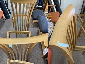 椅子のキズ、かけ修復
