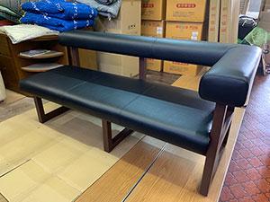 背付きベンチ椅子張替
