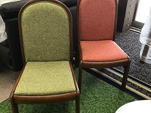 食堂椅子張替(背面構造変更)