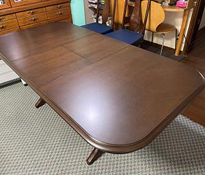 マルニ伸長式テーブル塗り直し